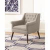 Accent Seating Upholstered Arm Chair with Button Tufting