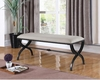 Accent Seating Upholstered Bench with Black Base