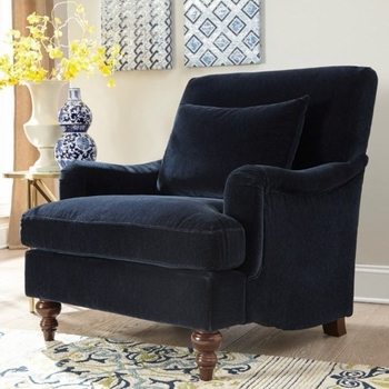 Accent Seating with Exposed Turned Legs and Attached Back 902899