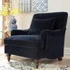 Accent Seating Upholstered Chair with Exposed Turned Legs and Attached Back