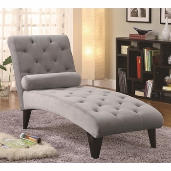 Accent Seating Velour Tufted Chaise
