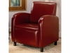 Accent Seating Vinyl Upholstered Arm Chair