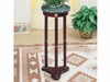 Round Marble Top Accent Table Merlot 3315