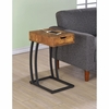 Accent Tables Chairside Table with Storage Drawer and Outlet