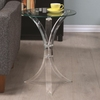 Round Accent Table Clear 900490