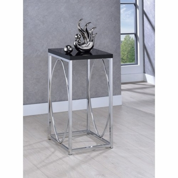 Accent Tables Contemporary Accent Table with Black Top