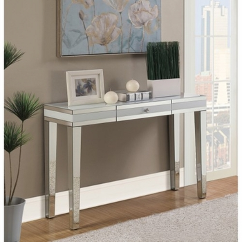 Accent Tables Contemporary Console Table with Mirrored Panels