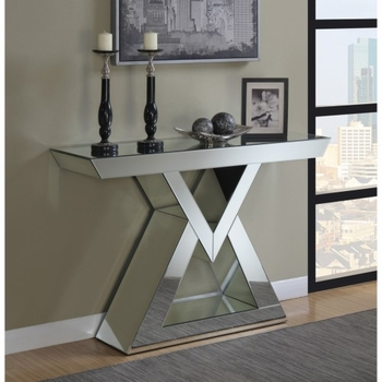 Console Table With Triangle Base Clear Mirror 930009