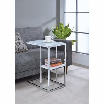 Accent Tables Contemporary Snack Table with Glass Top