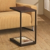 Accent Tables Dark Brown Rectangular Snack Table