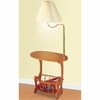 Magazine Table With Lamp Warm Brown 4501