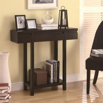 Accent Tables Modern Entry Table with Lower Shelf