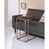 Expandable Top Accent Table Chestnut And Chrome 902932