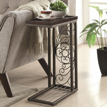 Accent Tables Snack Table with Floral Design