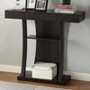 Accent Tables T-Shaped Console Table with 2 Shelves