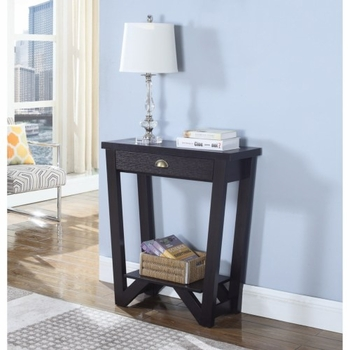 Accent Tables Transitional Angled Console Table