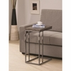 Expandable Top Accent Table Weathered Grey And Black