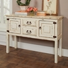 Accent Tables White Distressed Console Table