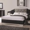 Alessandro King Low Profile Bed with Upholstered Panel Headboard