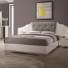 Alessandro Queen Low Profile Bed with Upholstered Panel Headboard