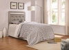 Anastasha Upholstered Twin Headboard with Crystal Button Tufts