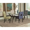 5PC Andenne Glass Top Dining Table Set