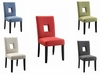 Andenne Upholstered Side Chair with Square Cutout in Seat Back