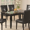 Anisa Dining Table with Black Faux Stone Top