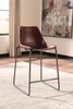 Antonelli Counter Height Chair with Natural Goat Leather