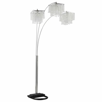 Arc Floor Lamp with Poly Crystal Shades