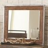 Arcadia 20380 Industrial Landscape Mirror with Pewter-Coated Metal Accents