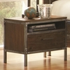 Arcadia 20380 Industrial Night Stand with Pewter-Coated Metal Accents