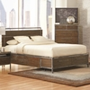 Arcadia 20380 Industrial Queen Platform Bed with Pewter-Coated Metal Accents