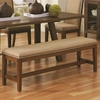 Arcadia Industrial Upholstered Dining Bench with Nail Head Trim