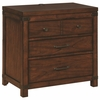 Artesia Vintage Inspired Three Drawer Nightstand