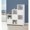 Asymmetrical Bookshelf with Cube Storage Compartments
