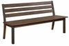 Atwater Industrial Dining Bench with Metal Studded Accents