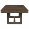 Atwater Industrial Dining Table with Leaf