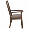 Atwater Ladderback Arm Chair with Upholstered Seat