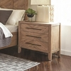 Auburn Nightstand with Chevron Inlay Design and USB Ports