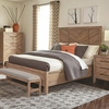 Auburn Queen Panel Bed with Chevron Inlay Design by Scott Living