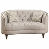 Avonlea C-Shaped Loveseat with Button Tufting and Nailhead Trim