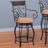 "Bar Stools 24"" Metal Bar Stool with Upholstered Seat"