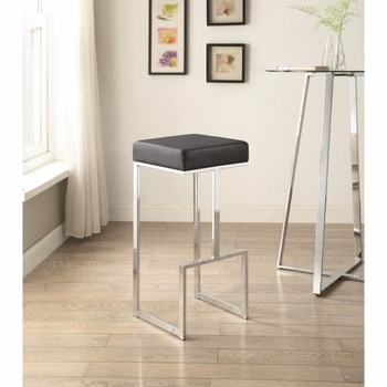 Bar Stools Contemporary Bar Stool with Upholstered Seat