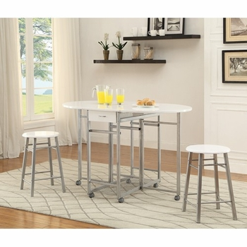 Bar Tables 3-Piece Set with Two Drop Down Leaves