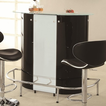 Bar Tables 100654 Bar Unit with Frosted Glass Top