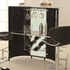 Bar Tables Contemporary Bar Unit with Frosted Glass Top