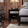 Barzini 2 Drawer Nightstand with a Metallic Acrylic Drawer Front
