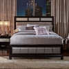 Barzini King Bed with Metallic Leatherette Upholstery