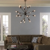 BEAM STAINLESS STEEL CHANDELIER IN BLACK